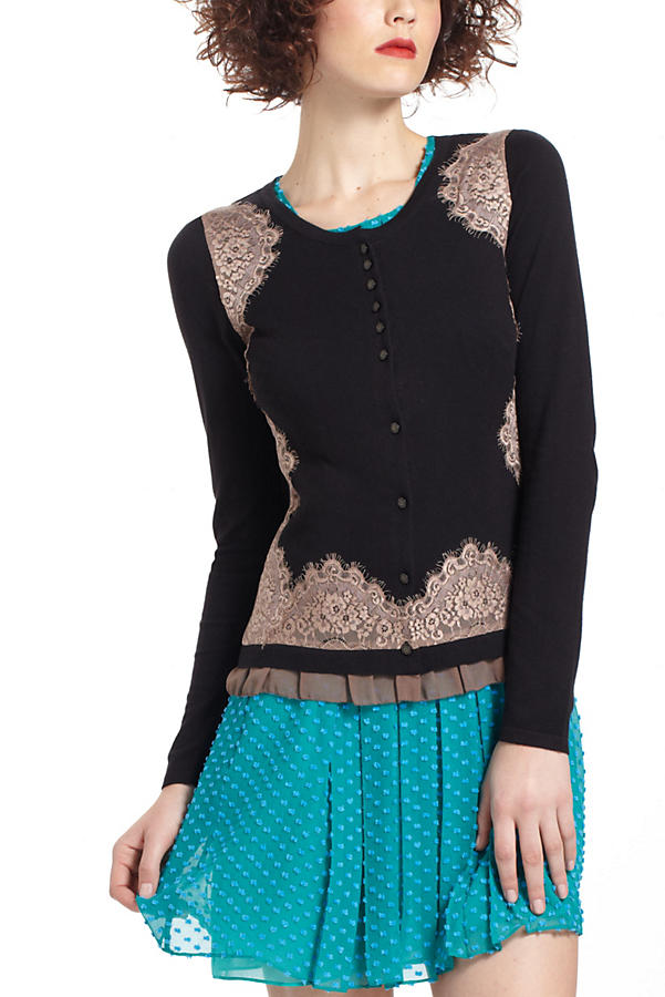 Lace-Framed Cardigan