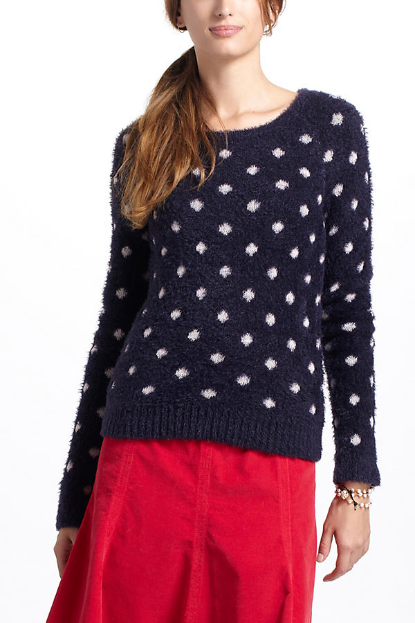 Slide View: 1: Dotted Woolly Sweater
