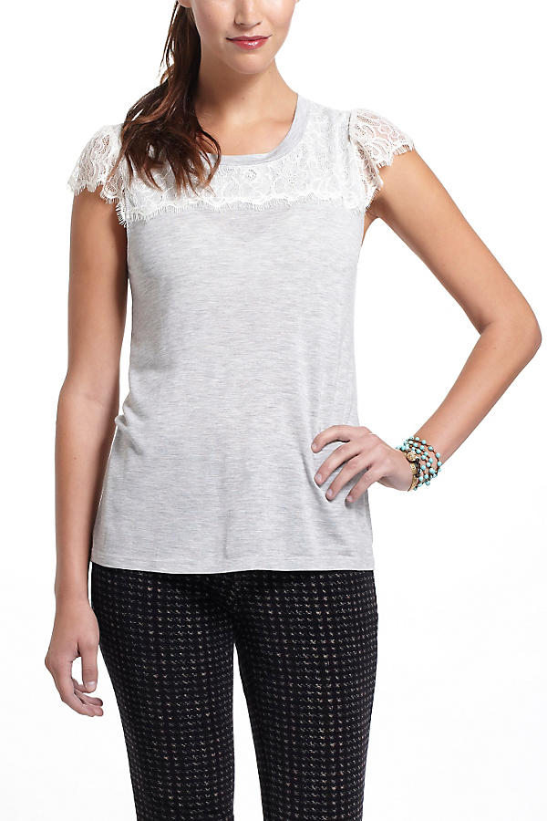 Slide View: 2: Eyelash Lace Tee