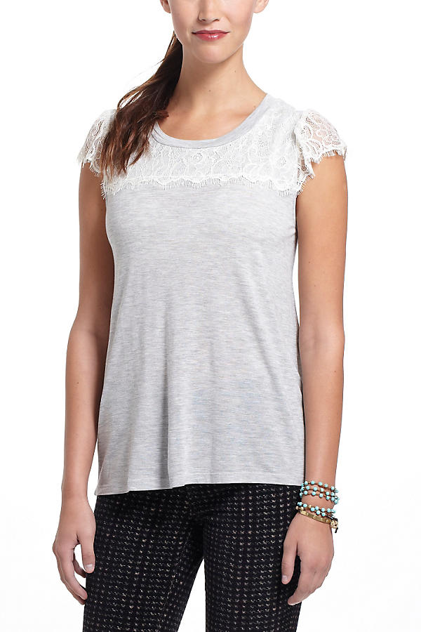 Slide View: 1: Eyelash Lace Tee