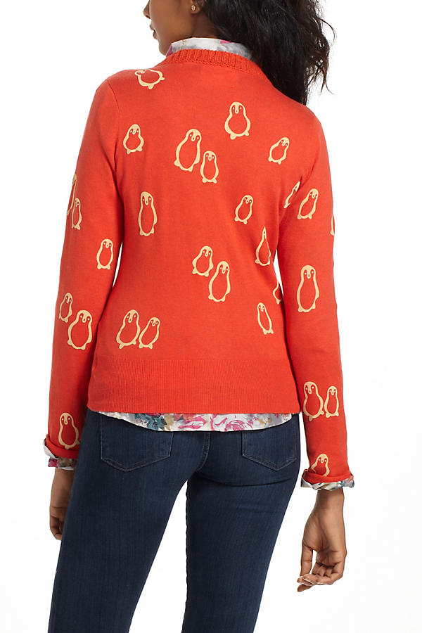 Slide View: 3: Flocked Penguins Cardigan