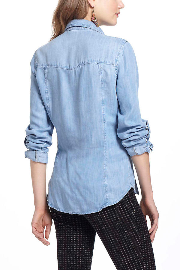Slide View: 3: Fitted Chambray Buttondown