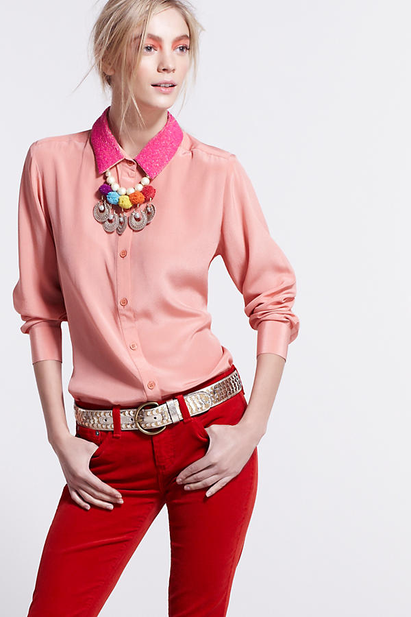 Beaded Collar Blouse