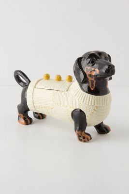 Sweater Pup Cookie Jar
