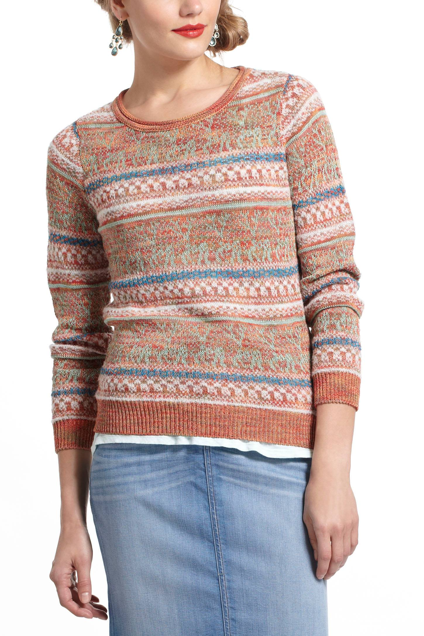 Shimmered Fairisle Sweater