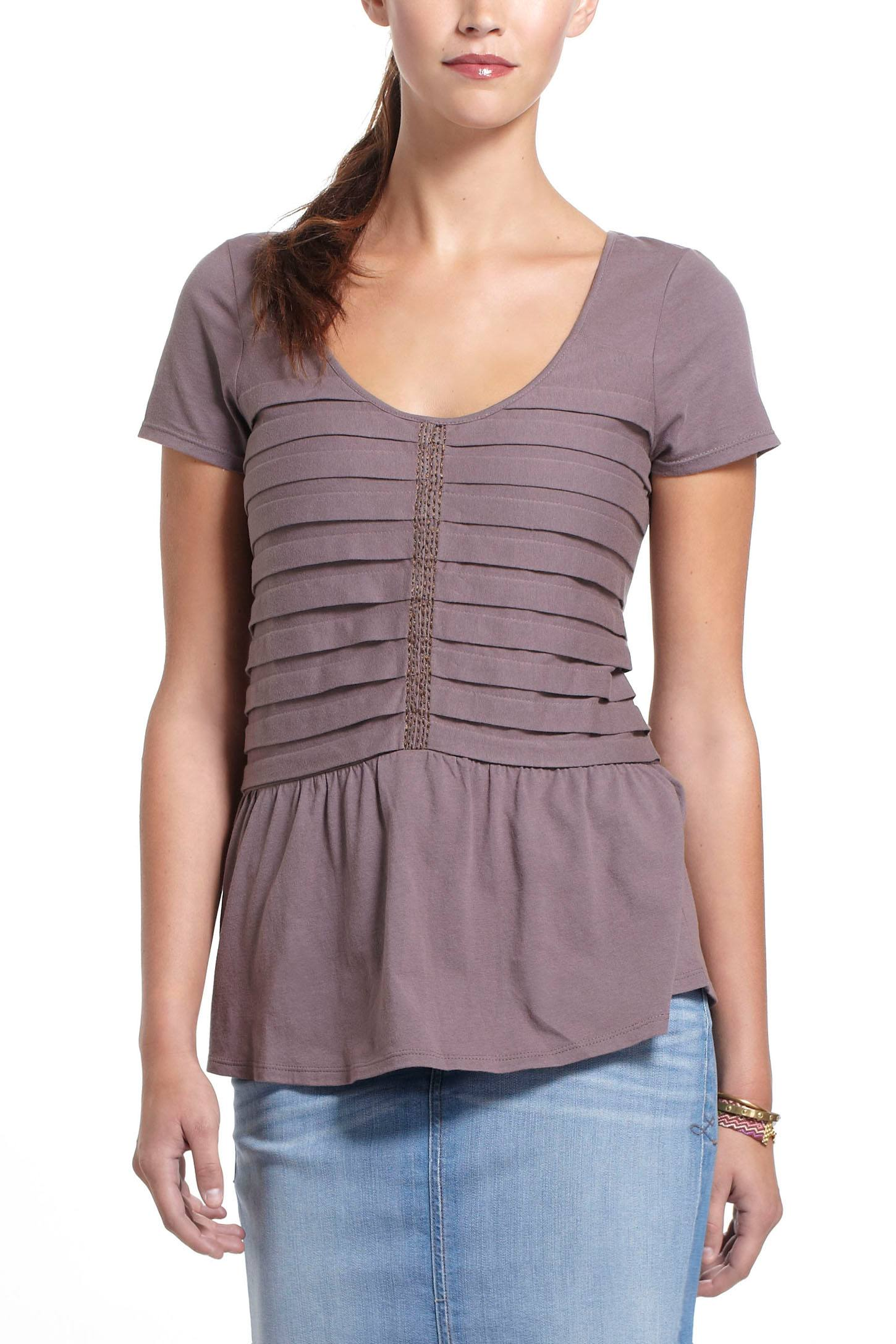 Stacked Pleats Peplum Top