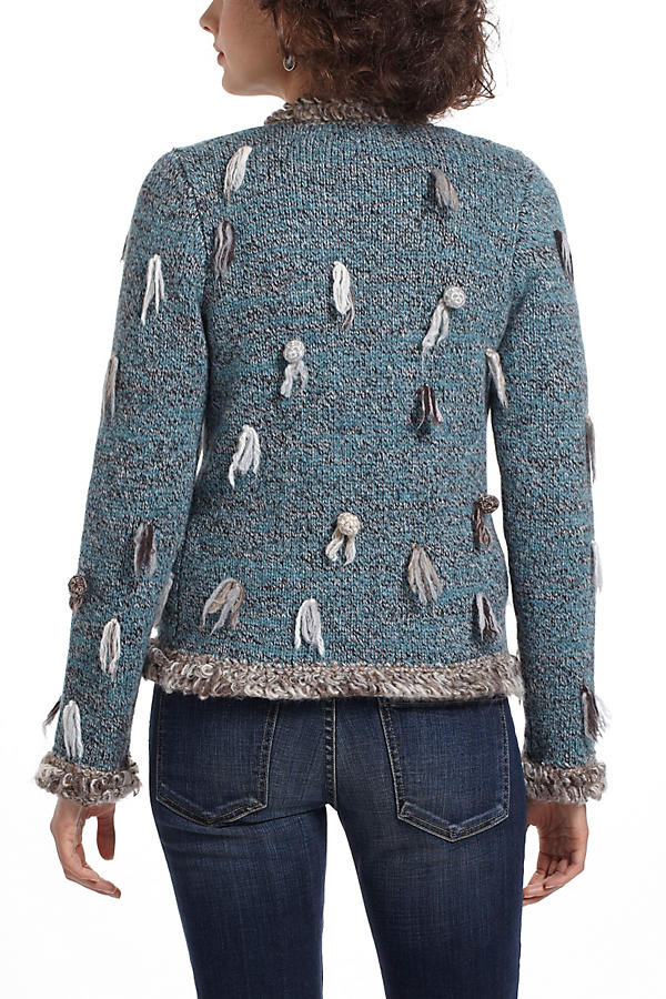 Slide View: 3: Split Pompom Sweater