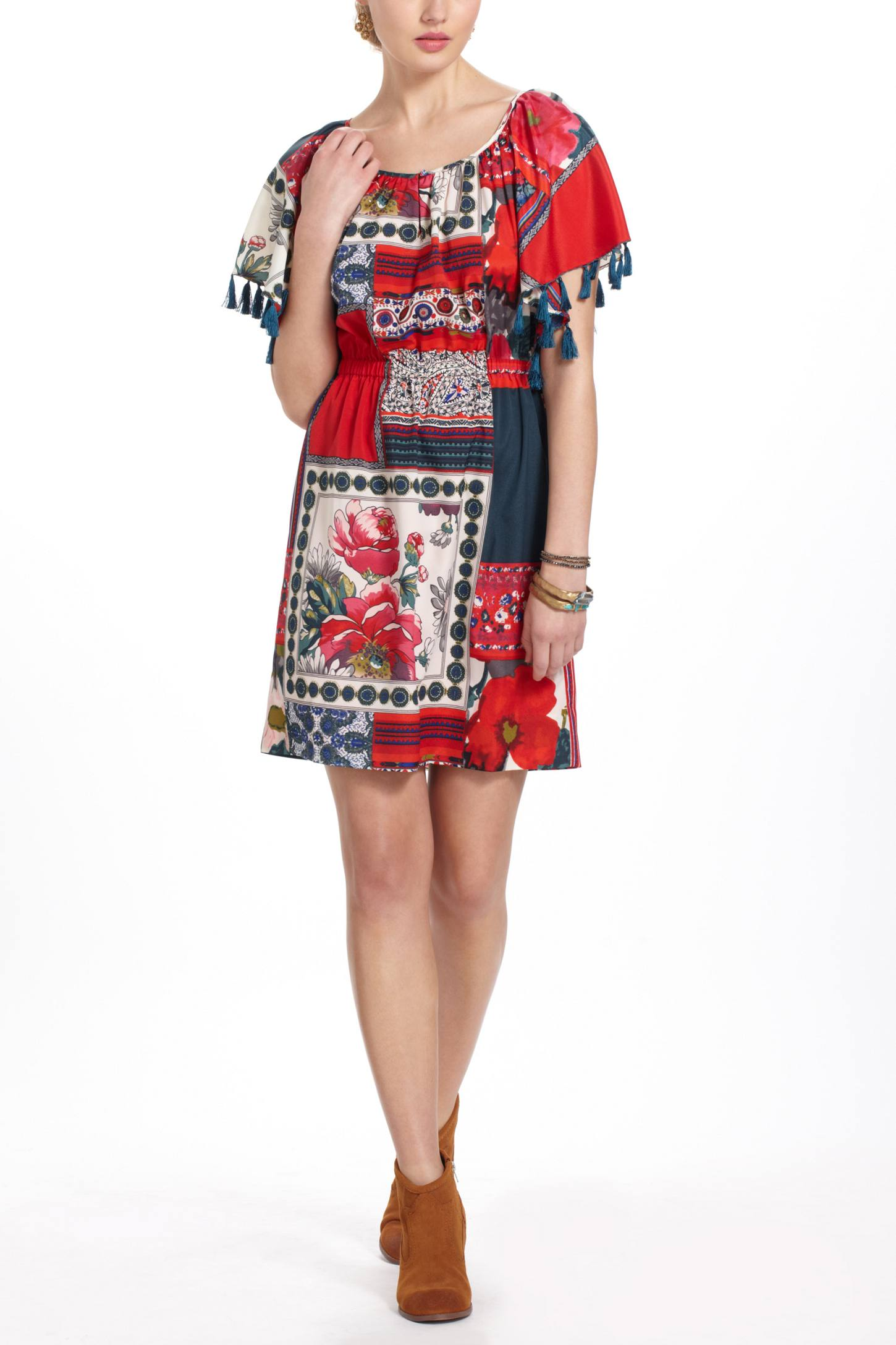 Persian Rose Patchwork Dress