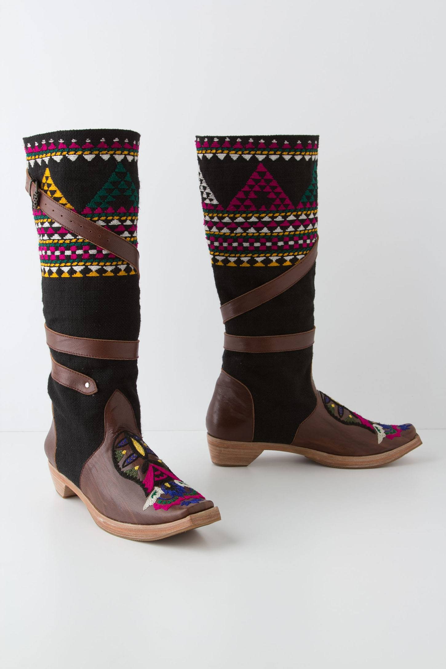 Wrapped Tapestry Boots
