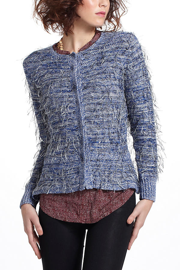 Wispy Peplum Sweater Jacket
