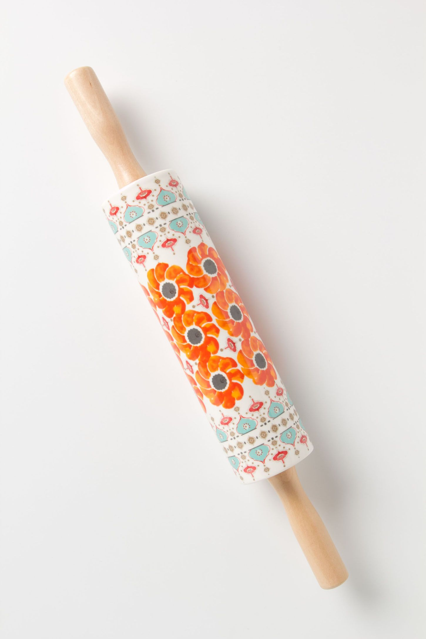Poppy Ring Rolling Pin | Anthropologie