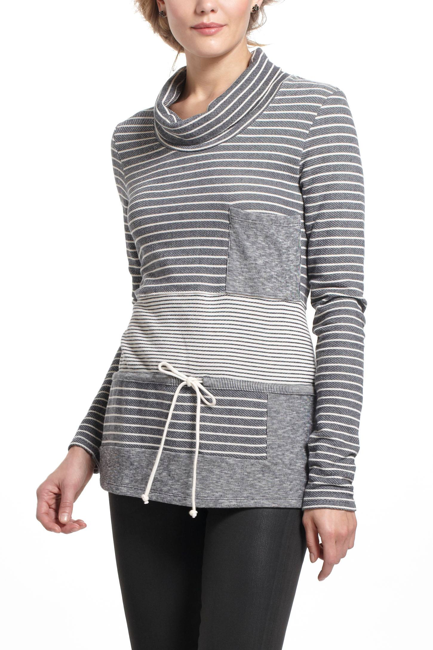 Striped Trio Cowlneck