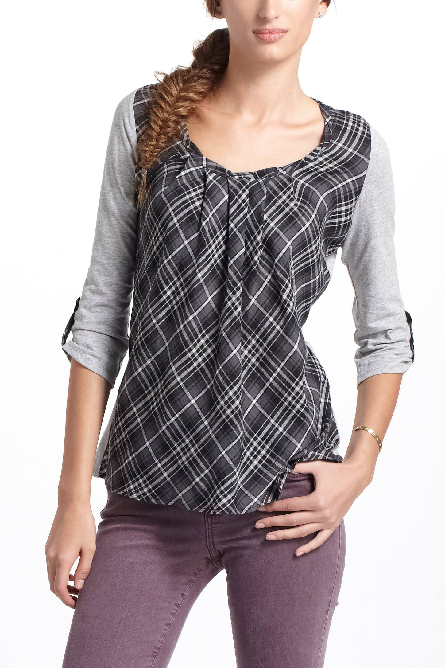 Centered Plaid Pullover