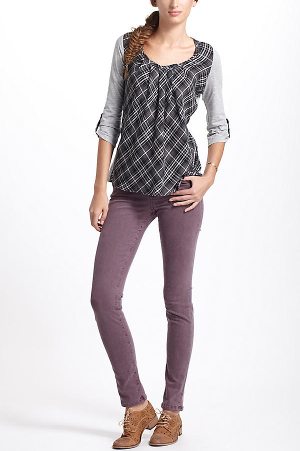 Slide View: 5: Centered Plaid Pullover