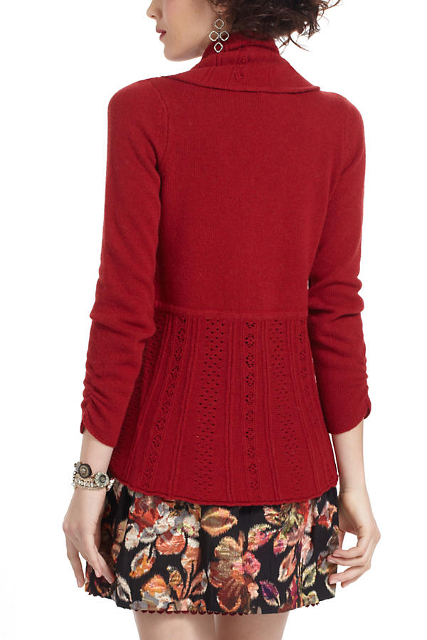Slide View: 2: Eyelet Circle Sweater