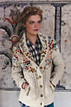 Thumbnail View 4: Embroidered Cableknit Cardigan