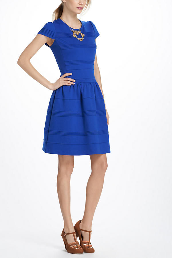 Slide View: 1: Pintucked Ponte Dress