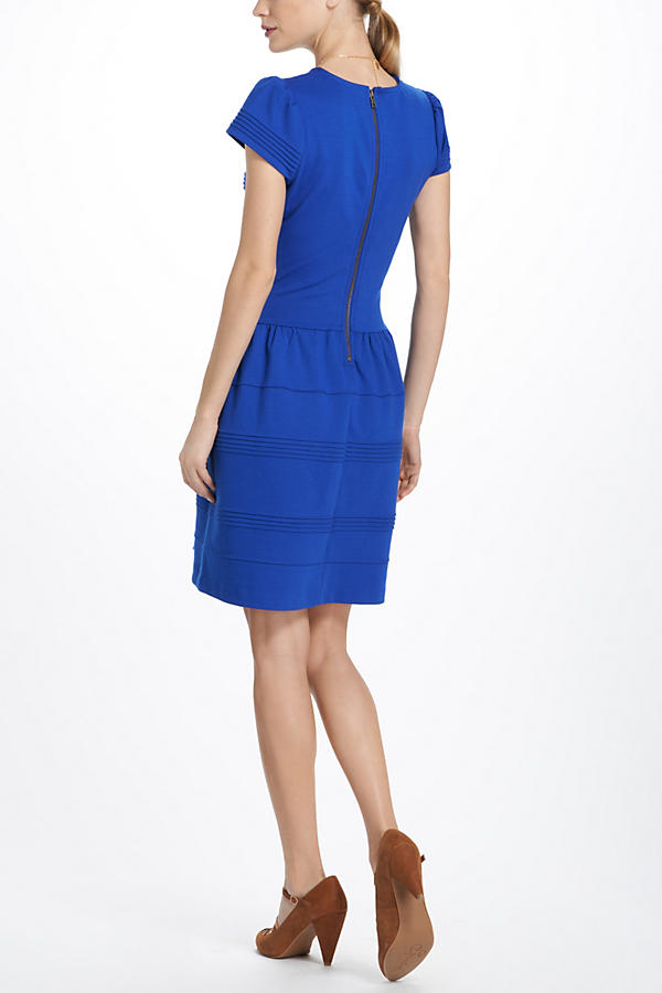 Slide View: 2: Pintucked Ponte Dress
