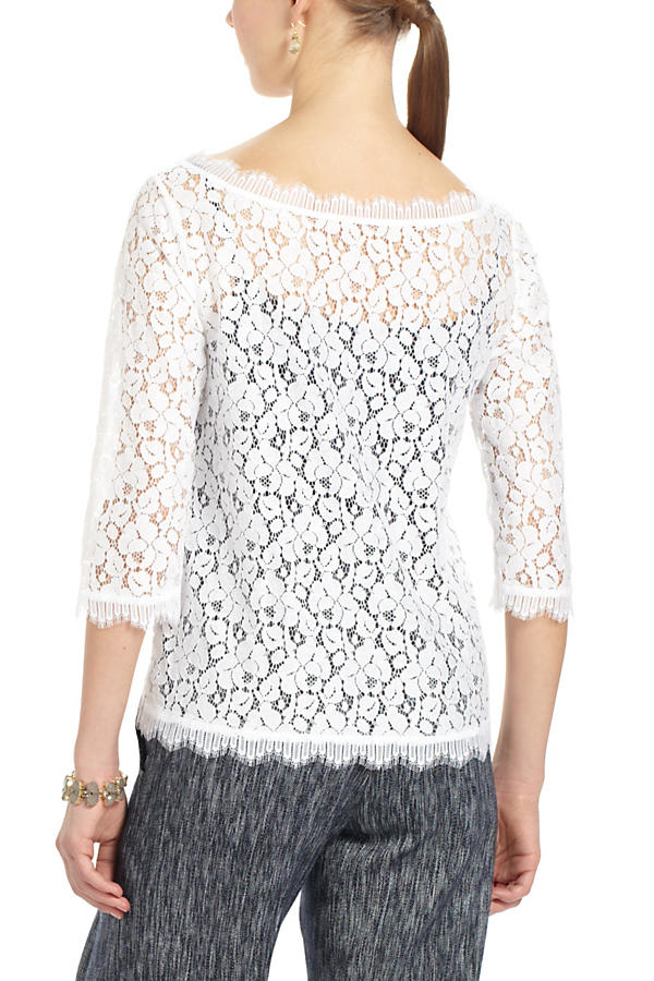 Slide View: 3: Fringed Lace Layer Tee