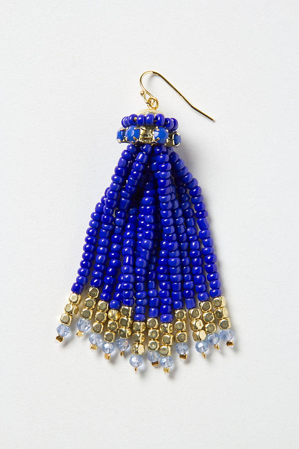 Slide View: 2: Bead Tassel Earrings