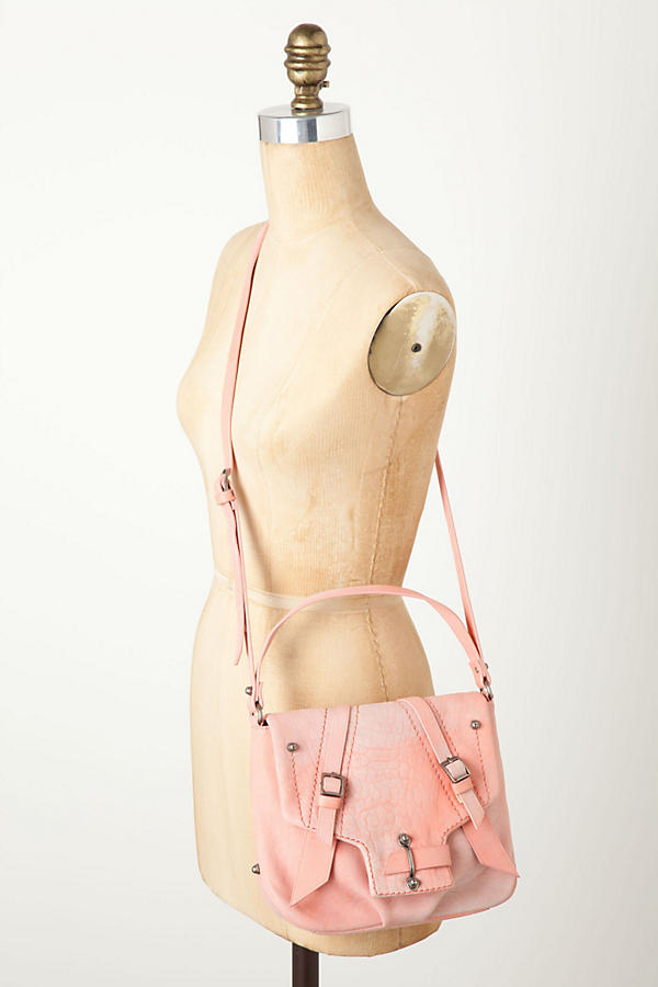 Slide View: 7: Croc Blush Satchel