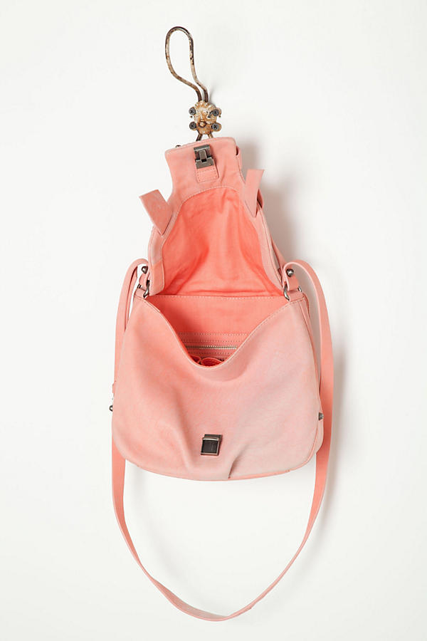 Slide View: 5: Croc Blush Satchel