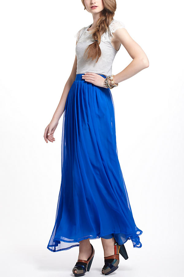 Slide View: 4: Aerophone Silk Maxi Skirt