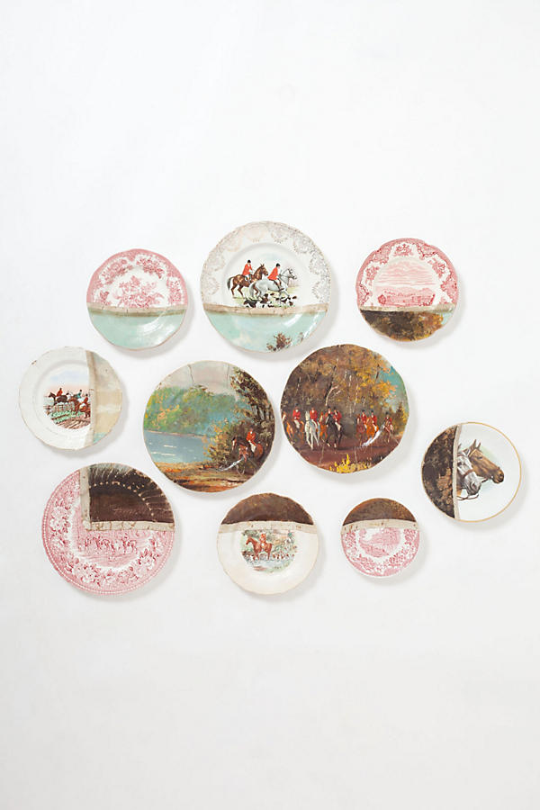 Fox Hunt Plate Collage