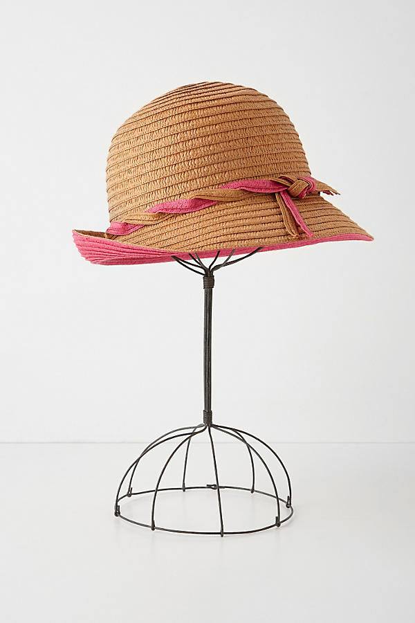 Tipped Straw Cloche
