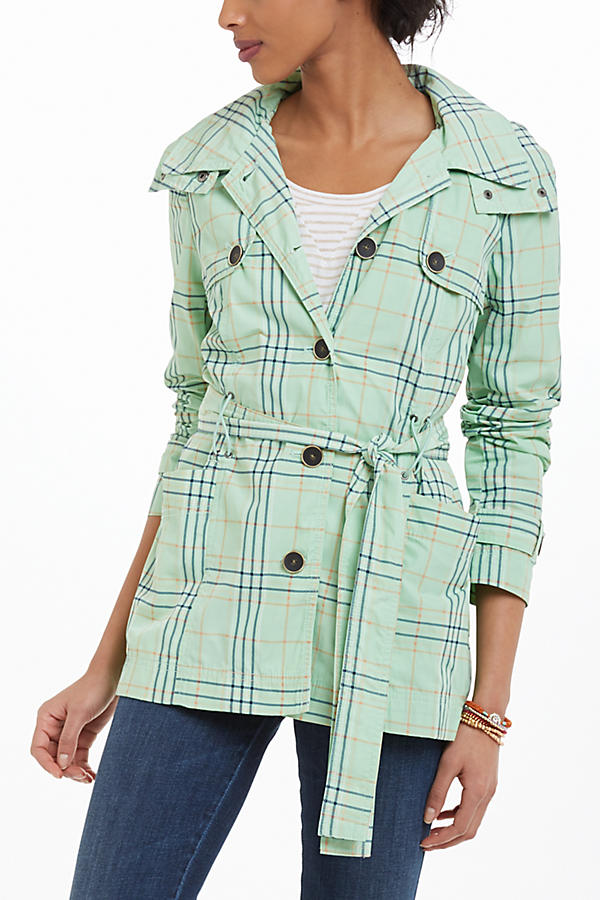 Hooded Tartan Trench