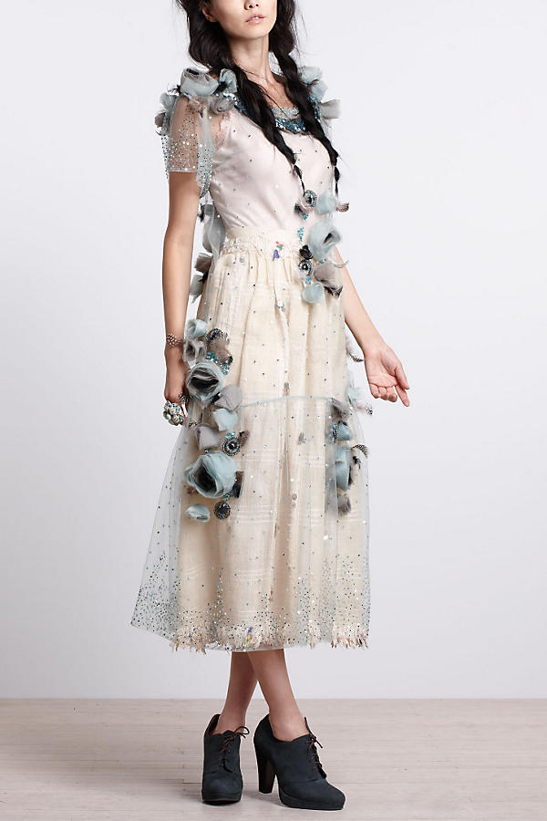 Slide View: 2: Asra Tulle Midi Dress
