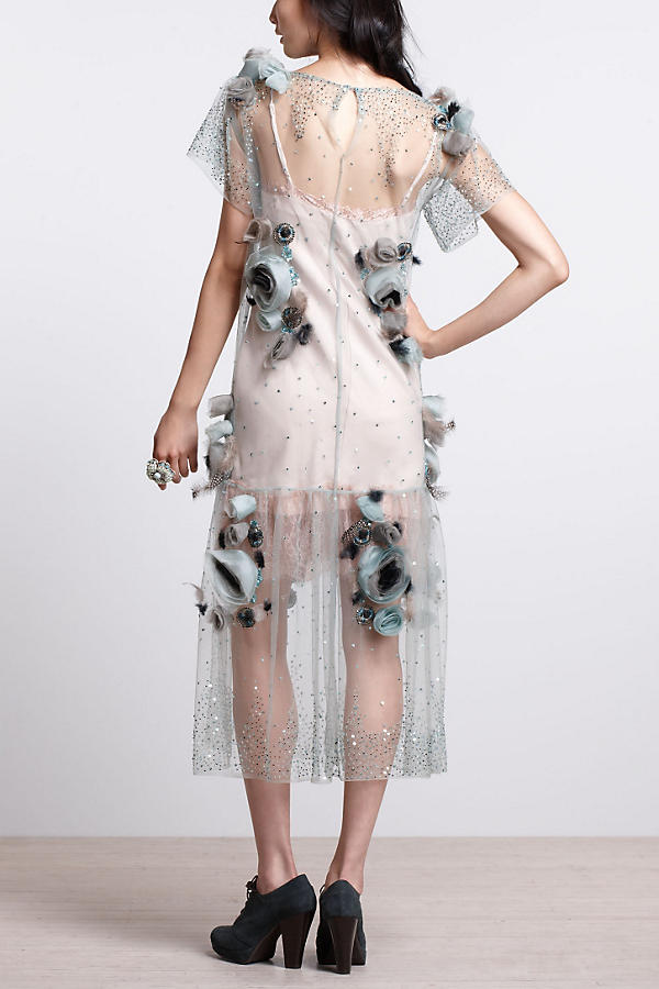 Slide View: 4: Asra Tulle Midi Dress
