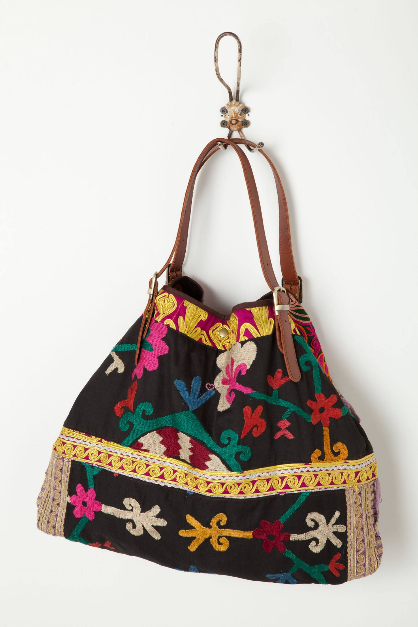 Embroidered Tabarka Shoulder Bag