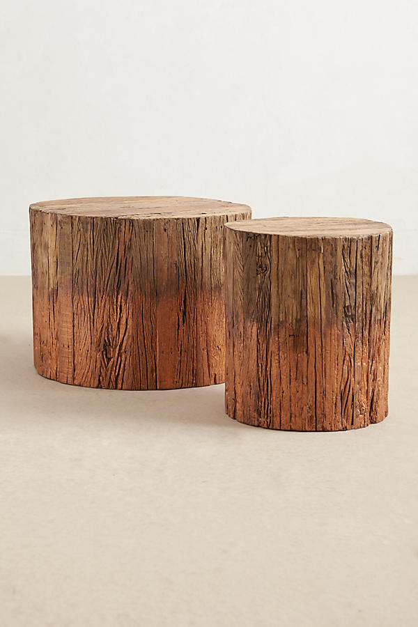 - Reclaimed Wood Side Table Anthropologie