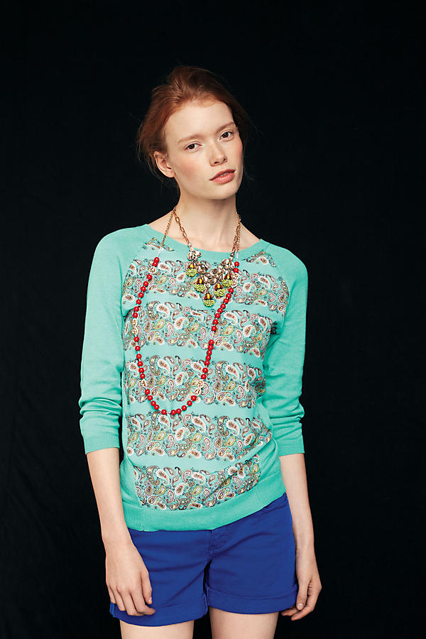 Slide View: 3: Mintprint Pullover