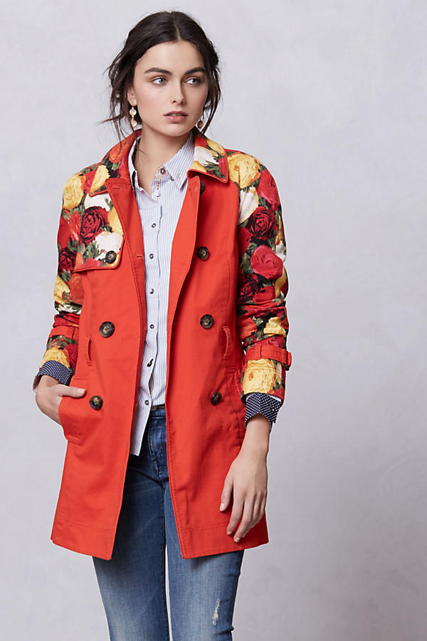 Blossom Sleeve Trench