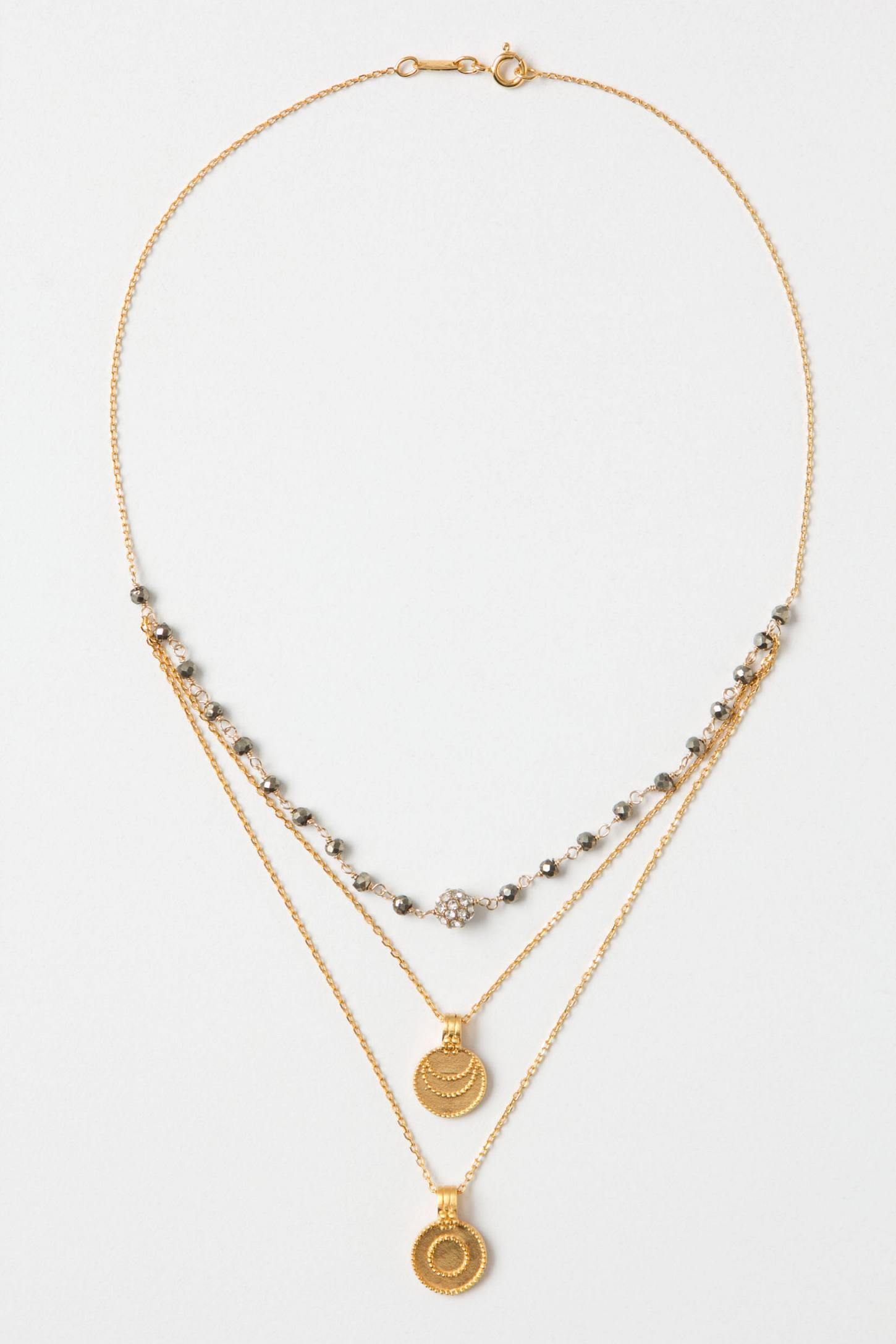 Medallion Layer Necklace