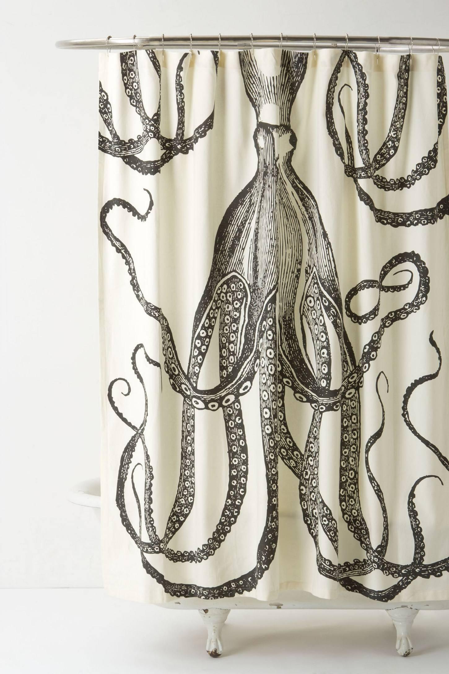 thomas paul octopus vineyard shower curtain  curtain menzilperdenet - octopus garden shower curtain anthropologie blue flax octopus vineyard showercurtain thomaspaul