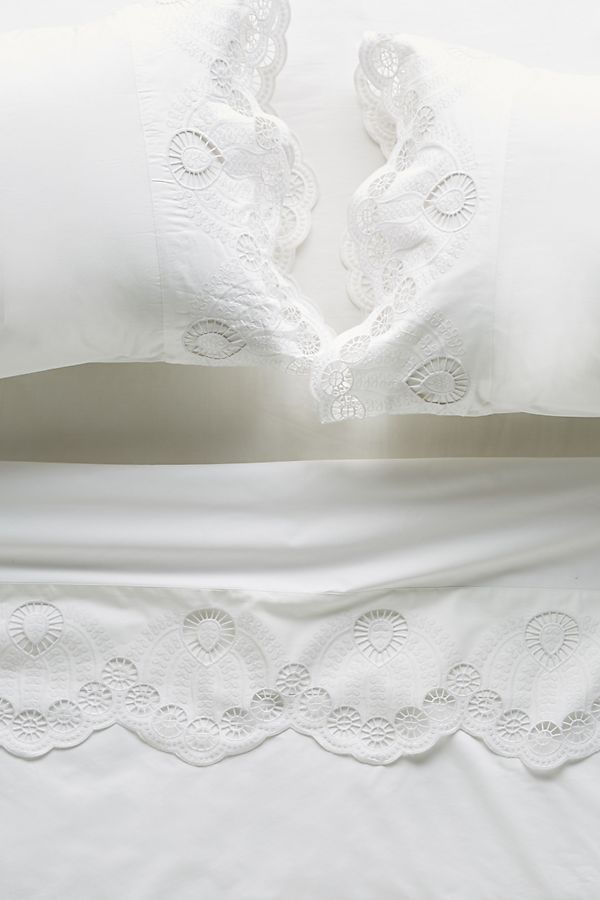 Slide View: 1: Eyelet Embroidered Sheet Set