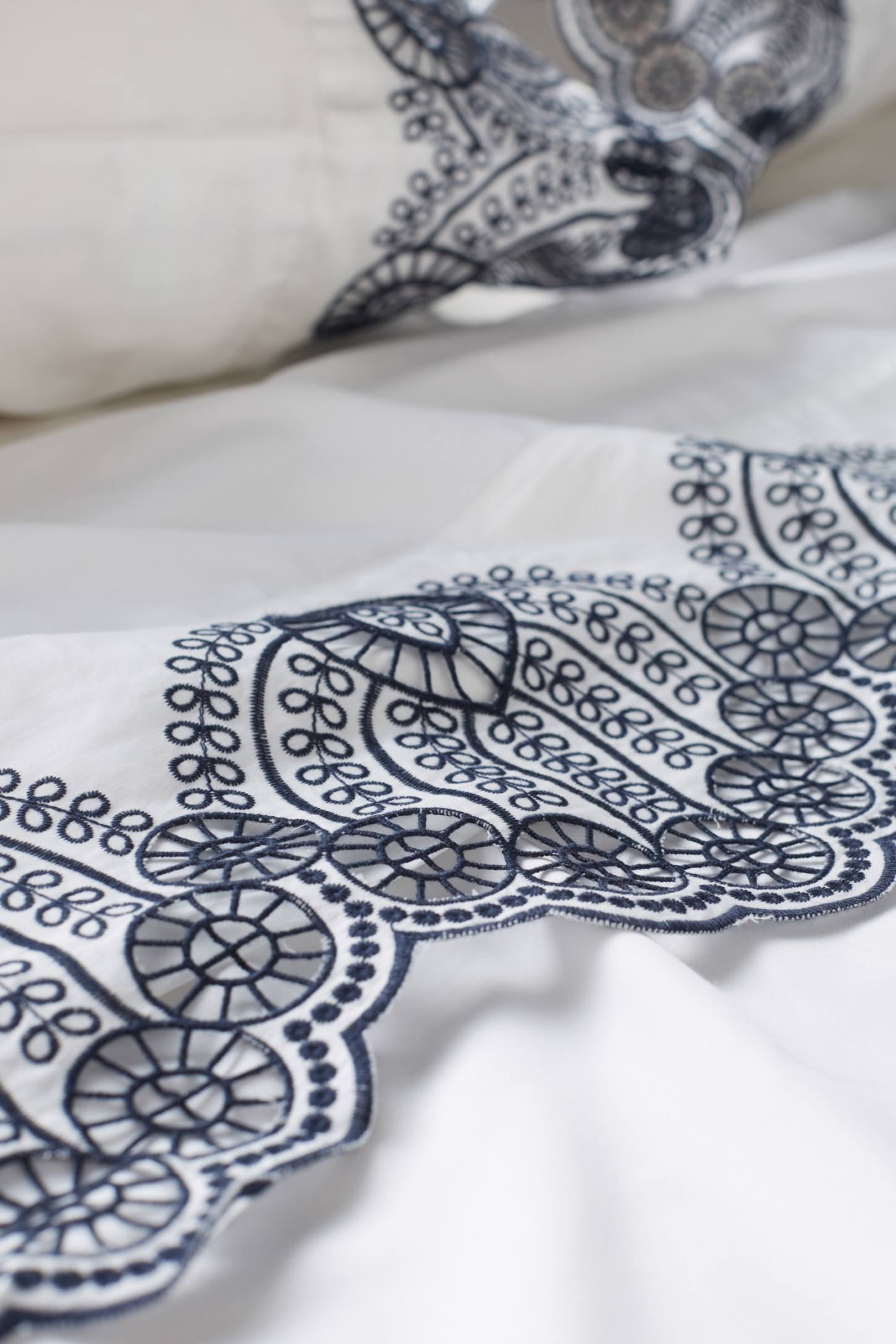 Slide View: 2: Eyelet Embroidered Sheet Set