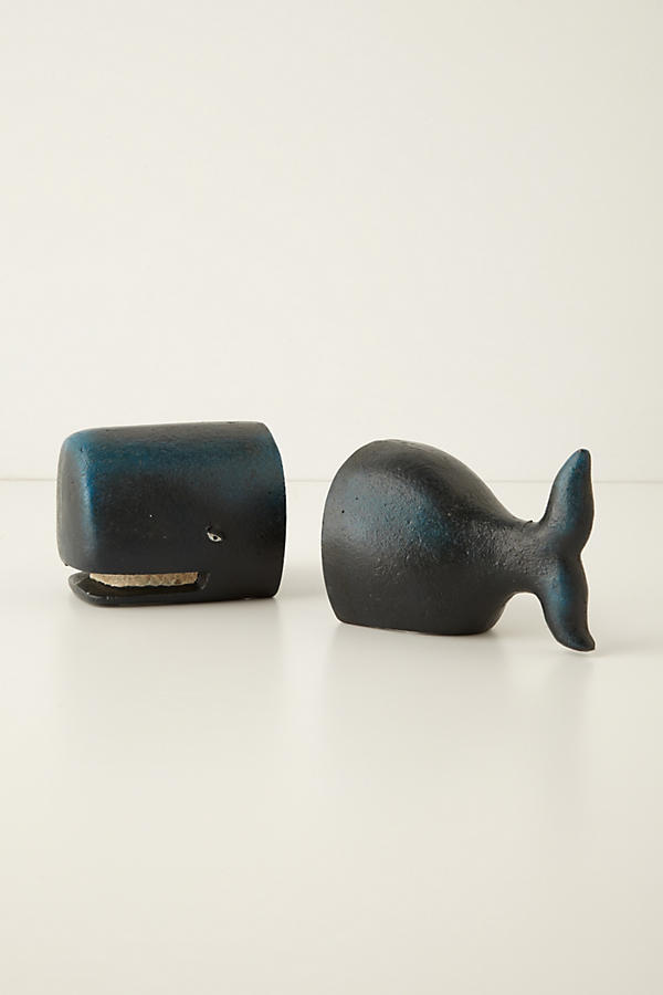 Slide View: 2: Victorian Whale Bookends
