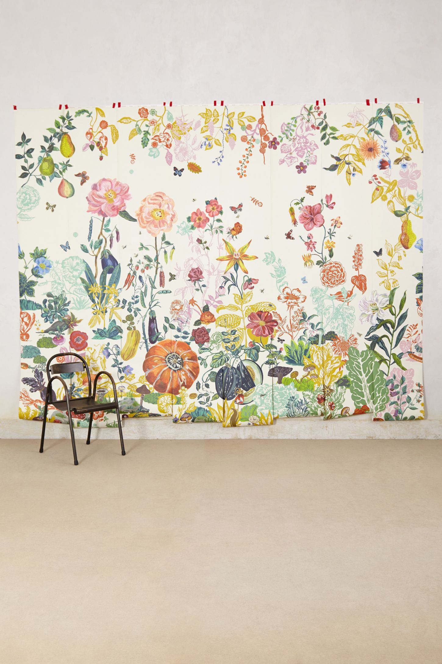 Yellow wall art wall mirrors wall dcor anthropologie great meadow mural amipublicfo Images