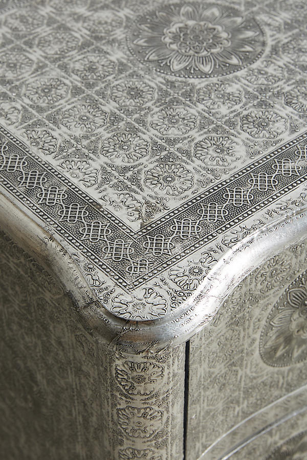 Slide View: 6: Hand-Embossed Four-Drawer Dresser