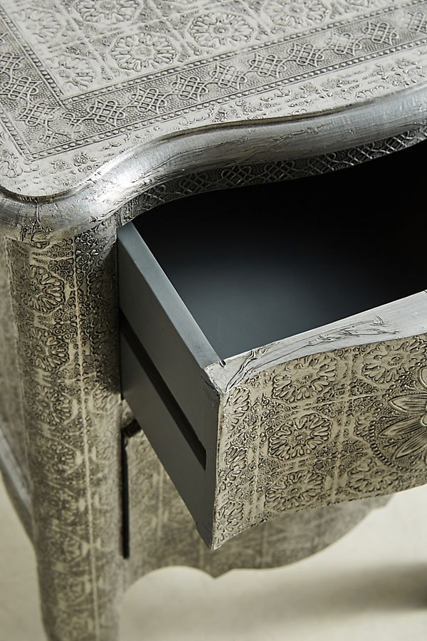 Slide View 4 Hand Embossed Nightstand