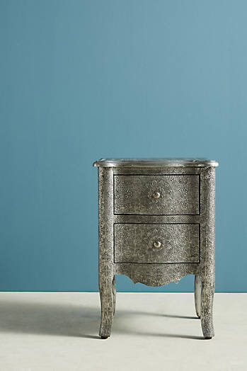 Slide View: 5: Hand-Embossed Nightstand