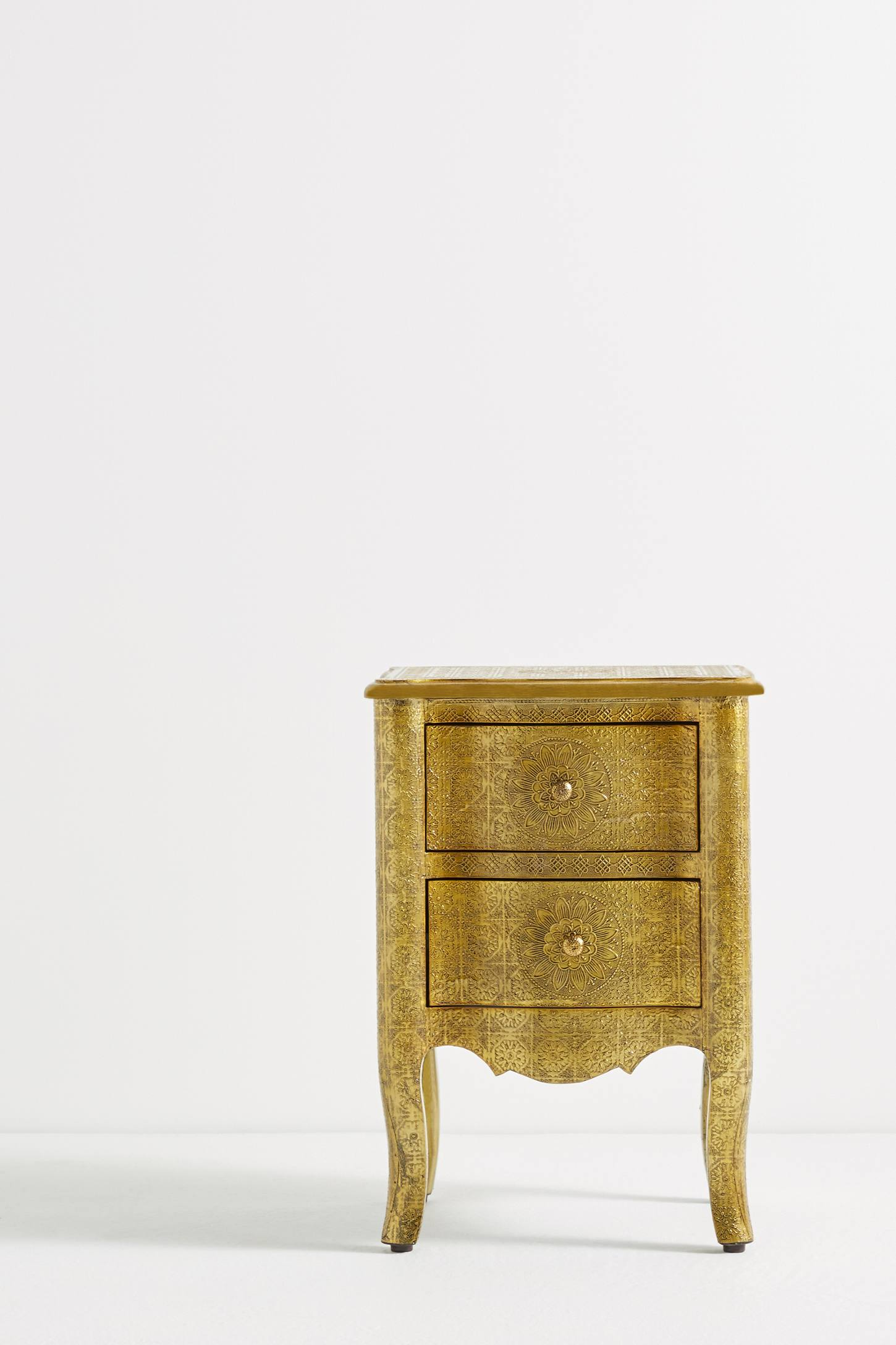 Slide View: 2: Hand-Embossed Nightstand