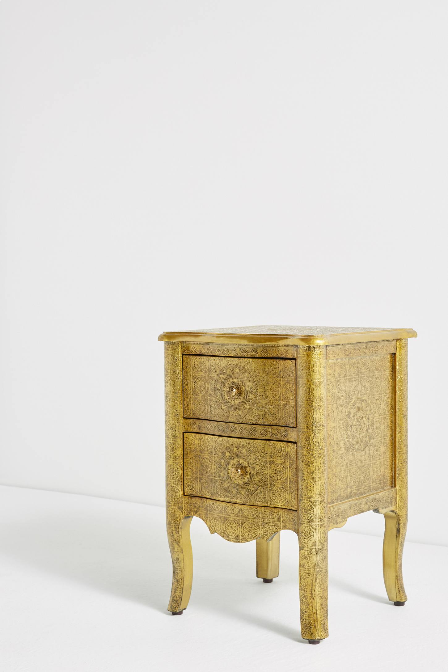 Slide View: 3: Hand-Embossed Nightstand