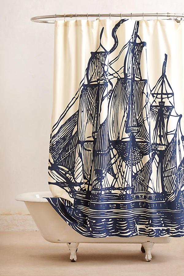 house home bathroom elizabethan sails shower curtain