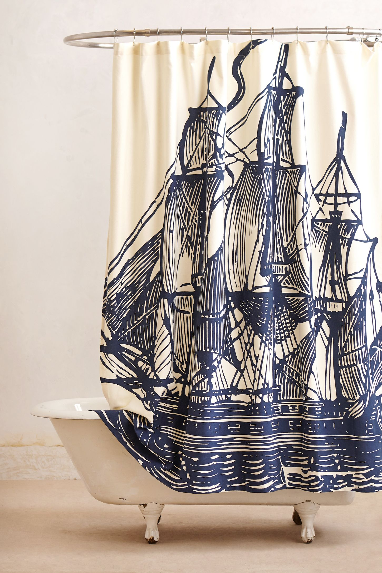 Elizabethan Sails Shower Curtain Anthropologie