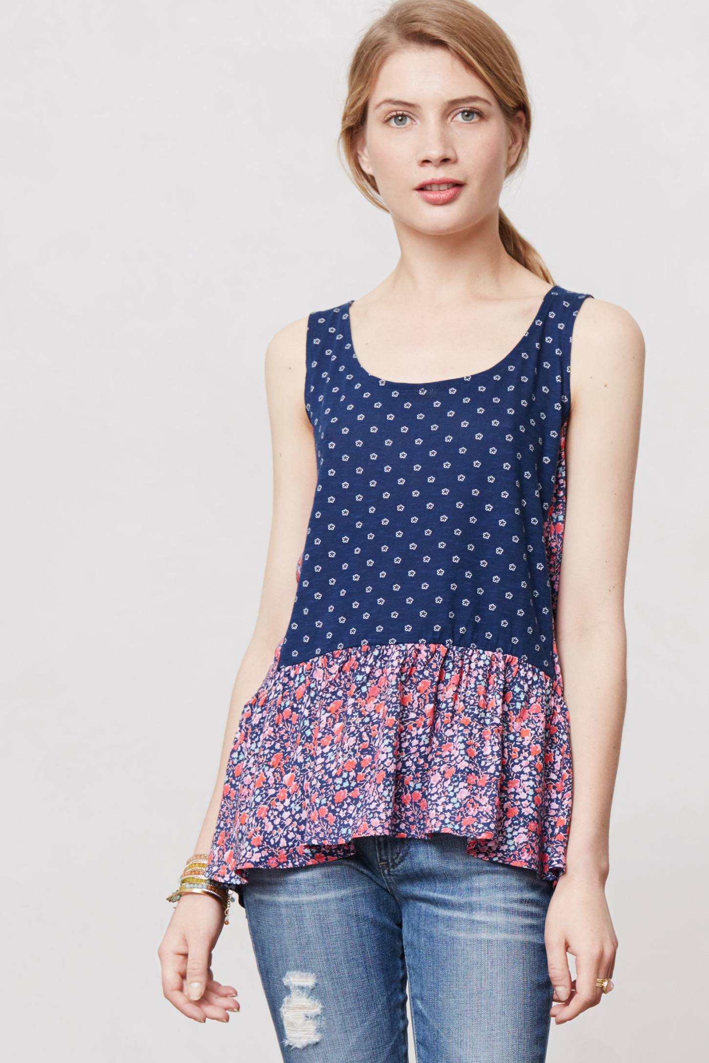 Petalled Peplum Top